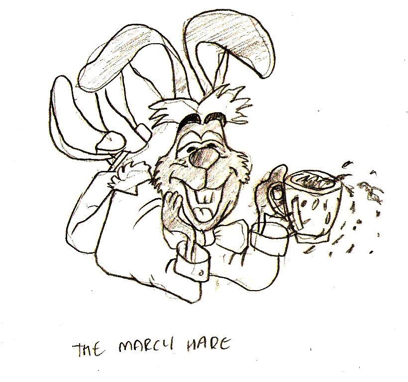 Disney March Hare: Alice In Wonderland Concept Art